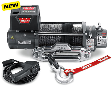 WARN M8000 Winch with Synthetic Rope
